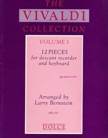 12 Pieces for Descant Recorder and Keyboard - The Vivaldi Collection - Volume 1