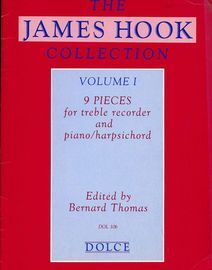 9 Pieces for Treble Recorder and Keyboard - The James Hook Collection - Volume 1