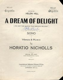 A Dream of Delight - Song in the key of D major for High voice