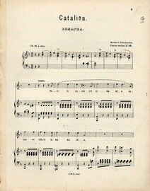 Catalina - Romanza - For Voice and Piano - No. 16 from 'Piezas Sueltas de la Zarzuelas Favoritas'