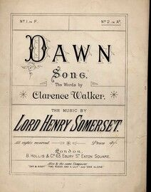 Dawn - Song in the Key of A flat Major for High Voice