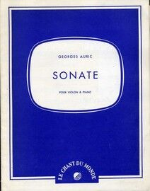 Auric - Sonate - For Violin & Piano