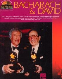 Bacharach & David - Hal Leonard Piano Play Along Series Volume 32 - With Accompanying CD - For Voice, Piano & Guitar - Featuring Hal David and Burt Ba