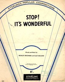 Copy of Stop! Its Wonderful - from The Mask and Wig Show \'\'Great Guns\'\'
