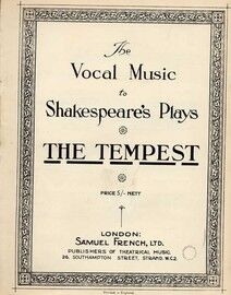 The Tempest - The Vocal Music to Shakespeare's Plays