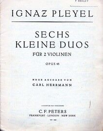 Pleyel - 6 Small Duos - For 2 Violins - Violin 1 Part - Op. 48