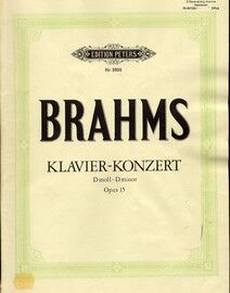 Brahms - Klavier Konzert in D Minor - Op. 15 - Edition Peters No. 3655 - Arranged for Two Pianos