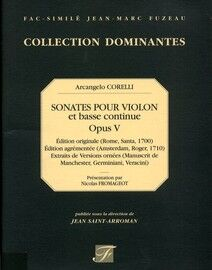 Arcangelo Corelli - Sonatas for Violin and Basso Continuo - Op. 5 - Facsimile Jean Marc Fuzeau - Collection Dominantes