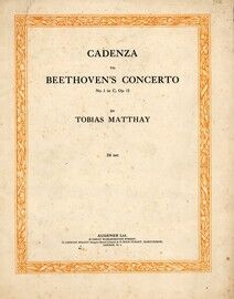 Cadenza to Beethoven\'s Concerto No. 1 in C, Opus 15