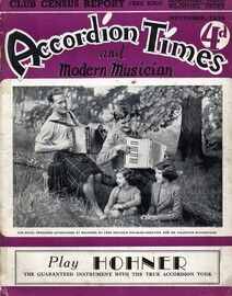 Accordion Times and Modern Musician - September 1939 - Featuring The Royal Princesses Elizabeth and Margaret, Lord Malcolm Douglas-Hamilton and Mr. Va