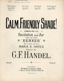 Handel - Calm Friendly Shade! - Recitative and Air from the Opera