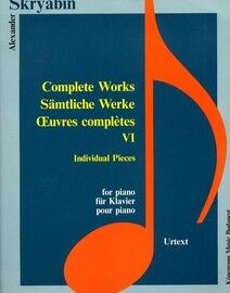Alexander Skryabin - Complete Works for Piano - Book 6 - Urtext Edition
