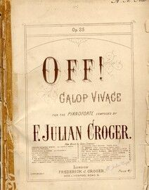 Off - Galop Vivace - Op. 25 - for Piano