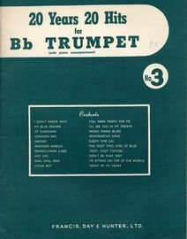 Twenty Years Twenty Hits for B flat Trumpet No. 3 (with piano accompaniment)