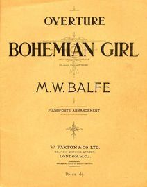 Bohemian Girl - Overture for piano solo