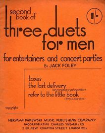 The Second Book of Three Duets for Men for Entertainers and Concert Parties