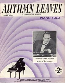 Autumn Leaves (Les Feuilles Mortes) - Piano Solo - Recorded by Roger Williams on London HLU 8214