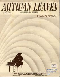 Autumn Leaves (Les Feuilles Mortes) - Piano Solo