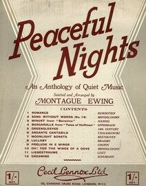 Peaceful Nights - An anthology of quiet music, selected and arranged by Montague Ewing