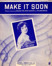 Make It Soon - As Featured by Annette Klooger and Teddy Foster with his Orchestra