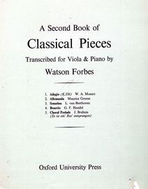 A Second Book of Classical Pieces - For Viola and Piano