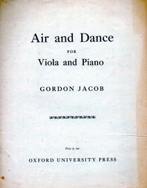 Air and Dance - For Viola and Piano - With Seperate Viola Score