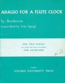 Beethoven - Adagio for a Flute Clock - For Two Flutes and Keyboard