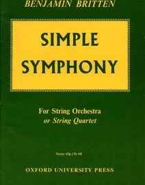Simple Symphony - For String Orchestra or String Quartet