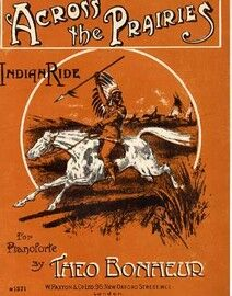 Across the Prairies, Indian Ride, for piano solo