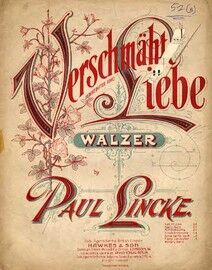 Verschmahte Liebe (Unrequited Love) -  Waltz for Piano Solo