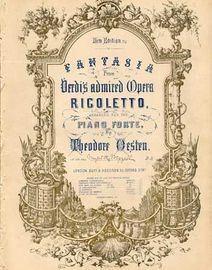 Fantasia from Verdis admired opera Ricoletto, arranged for the piano