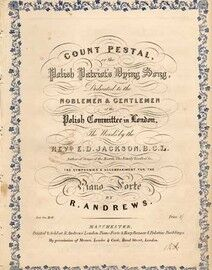 Count Pestal or The Polish Patriots Dying Song, for piano