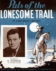 Pals of the Lonesome Trail - For Piano and Voice with Chord symbols - Featuring Bill Johnson