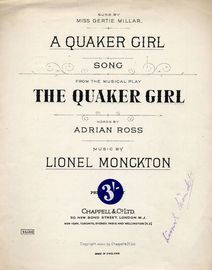 Quaker Girl - Song from the Musical Play \