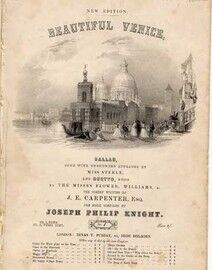 Beautiful Venice - Ballad - The Poetry Respectfully written and respectfully dedicated to Revd. W. Cunningham - 15th edition