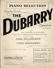 The Dubarry - Piano selection - From a Operette in 9 Scenes