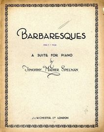Barbaresques - A Suite for Piano
