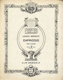 Capriccio For Two Pianos - Chester Library