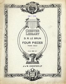Four Pieces - For Piano Solo - Chester Library Edition