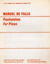Pantomime (El Amor Brujo) - For Piano