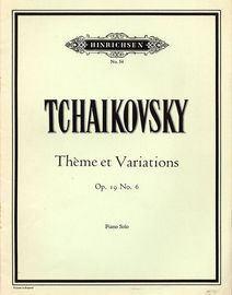 Theme et Variations - Op. 16, No. 6 - Hinrichsen Edition No. 54 - Piano Solo
