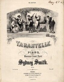 Tarantelle. Piano Solo in E minor, Op8. Illustrated by A Laby. Printed by Stannard and Son