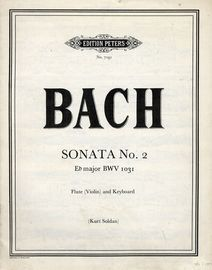 Bach - Sonata No. 2 in E flat major, BWV 1031 - For Flute and Keyboard