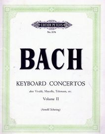 Keyboard Concertos after Vivaldi, Marcello, Telemann, etc. - Volume 2 - Edition Peters No. 217b