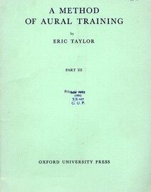 A Method of Aural Training - Part 3 - Book