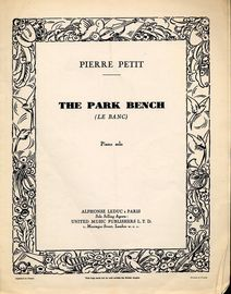 The Park Bench (Le Banc) - Piano Solo