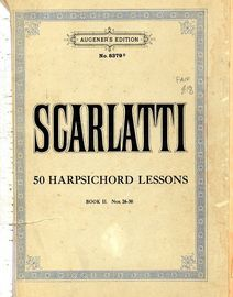 50 Harpsichord Lessons - Book II, No's 26-50 - Augeners Edition No. 8379b