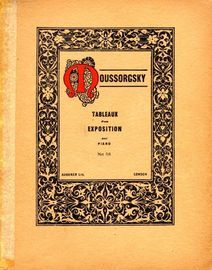 Moussorgsky Tableaux d'une Exposition (Pictures at an Exhibition) - 10 Pieces for Piano