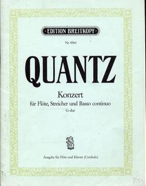 Quantz - Concerto in G Major- For Flute, Strings and Basso continuo - Arranged for Flute and Piano - QV 5: 174