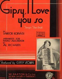 Gipsy I Love You So, tango fox-trot featured by Gipsy Roma